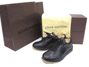 未使用品 ルイヴィトン LOUIS VUITTON モノグラム レザー スニーカー 6 1/2 25.5cm