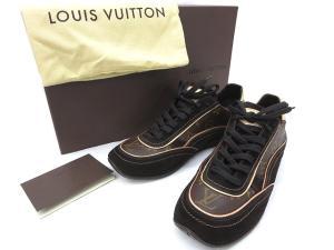未使用品 ルイヴィトン LOUIS VUITTON モノグラム スエード スニーカー 6 1/2