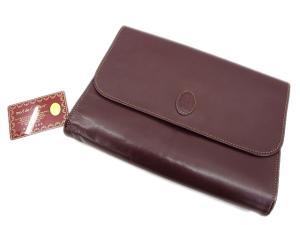 カルティエ Cartier マストライン ボルドー セカンドバッグ /X