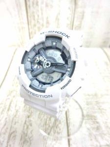 ジーショック G-SHOCK カシオ GA-110C-7AJF 腕時計 デジタル クォーツ 白 文字盤グレー
