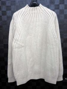 アルフレッドダンヒル ALFRED DUNHILL ニット セーター 長袖 ハイネック カシミヤ アイボリー M ※TT4005S