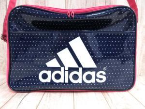 アディダス adidas エナメルバッグ ショルダー ロゴ 紺 ピンク ※MM8170 161019