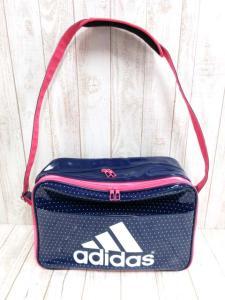 アディダス adidas エナメルバッグ ショルダー ロゴ 紺 ピンク ※MM8170 161019の買取実績