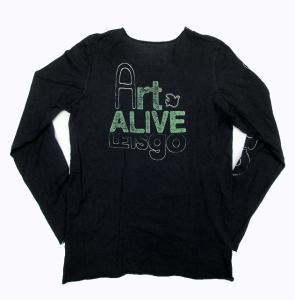 フリーシティ FREE CITY カットオフ 加工 プリント 長袖 ロング Tシャツ 黒 P10の買取実績