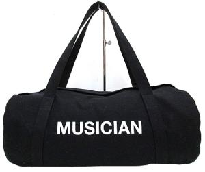 未使用品 ラッドミュージシャン LAD MUSICIAN ロゴキャンバス ドラム型 ショルダー バッグ 黒 e2の買取実績