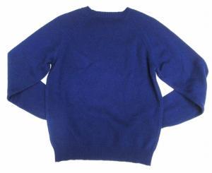 アーペーセー A.P.C. 美品 ウール100% クルーネック 長袖 ニット セーター 紺 XS メンズの買取実績
