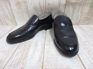 ピエールバルマン PIERRE BALMAIN 本革 レザー シューズ ローファー 6EEE 黒 24.5cm 革靴 ビジネス