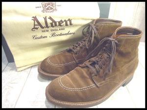 【ALDEN/オールデン】 トゥモローランド別注スエード インディーブーツ ブラウン9 B/D