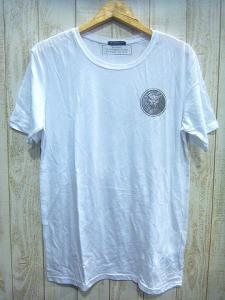 【BALMAIN/バルマン】 14SS Tシャツ/ライオン胸ロゴ半袖カットソーLEOレオ白ホワイトL