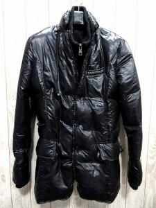 【AKM/エーケーエム】 13AW異素材カシミヤ混リブ切替ダウンジャケット黒ブラックL 3B LAYERED B022