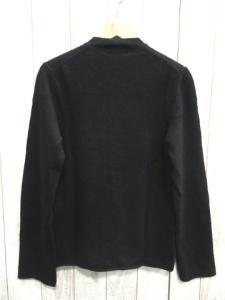 ブラックコムデギャルソン BLACK COMME des GARCONS 上質ウール100 クルーネック カットオフ ボタン カーディガン黒ブラックM AD2012の買取実績