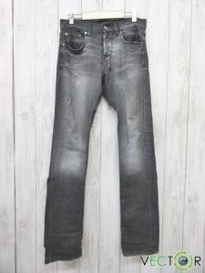スビ Ksubi ダメージ加工ストレート クラッシュ デニム パンツ黒ブラック28の買取実績