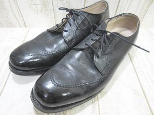 オールデン ALDEN Uチップ レザー ビジネス シューズ黒ブラック 471 US10 ワイズD