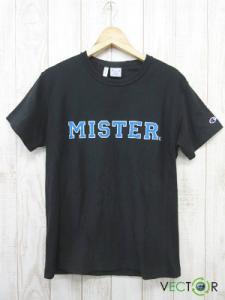 ミスタージェントルマン MR.GENTLEMAN チャンピオン コラボ ロゴ プリントTシャツ黒ブラックM