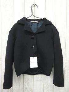 バレンシアガ BALENCIAGA スナップ3B ショート丈ウール ジャケット黒ブラック36