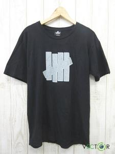 アンディフィーテッド UNDEFEATED ナチュラル コットン ロゴ プリントTシャツ黒ブラックL