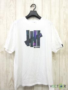 アンディフィーテッド UNDEFEATED ナチュラル コットン ALL GONE ロゴ プリントTシャツ白ホワイトL