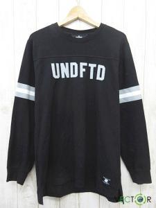 アンディフィーテッド UNDEFEATED DOWN L/S JERSEY ダウン ロング スリーブ ジャージー Tシャツ黒ブラックL