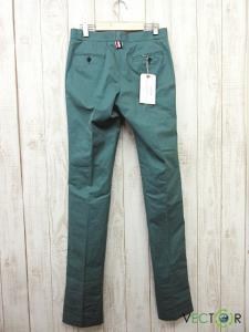 未使用品 トムブラウン THOM BROWNE 14AW コットン トラウザー パンツ緑グリーン0 TAPERED LEG TROUSER IN GREEN COTTON TWILL MTU178AW8639の買取実績