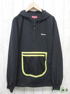 シュプリーム SUPREME 14SS Mesh Pocket Pullover Jaket Black ブラック黒M プルオーバー ジャケット