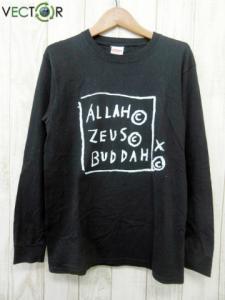 シュプリーム SUPREME ☆AA★13AW Basquiat Allah Zeus Buddah L/S Tee プリント長袖Tシャツ カットソー ブラックS