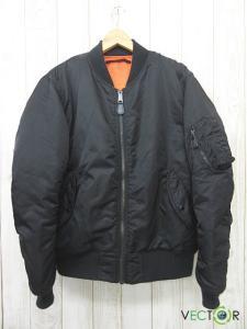 アヴィレックス AVIREX MA-1 COMMERCIAL LOGO コマーシャル ロゴ フライト ジャケットXXL黒ブラックの買取実績