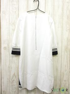 アドーア ADORE 麻リネン混 袖リブ クルーネック レーヨン ワンピース白ホワイト36の買取実績