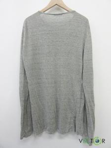 バルマン BALMAIN 麻リネン100ヘンリーネック霜降りカットソーTシャツ グレーの買取実績
