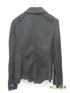 コムデギャルソンコムデギャルソン COMME des GARCONS COMME des GARCONS コムコム毛ウール100丸襟ボタン シャツ ジャケット黒ブラックSの買取実績