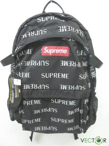 未使用品 シュプリーム SUPREME ★AA☆16AW 3M Reflective Repeat Backpack バックパック黒ブラックBLACK4