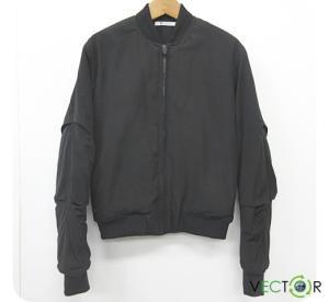 アレキサンダーワン ALEXANDER WANG 中綿ブルゾン MA-1 ジャケット黒ブラック 秋冬 バーニーズ ジャパン