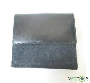 グッチ GUCCI GGキャンバス ジャッキー 二つ折り財布 黒ブラック 035 0959 2131 ユニセックスの買取実績