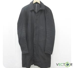 アタッチメント ATTACHMENT カズユキクマガイ 14AW 硫化染コットン ヘビード スキン ロング コート黒ブラック3 メンズの買取実績