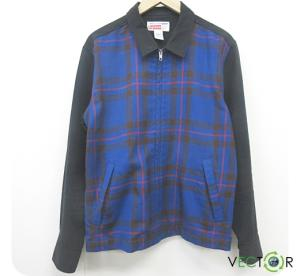 シュプリーム SUPREME 15AW Comme Des Garcons Shirt Work Jacket ワークジャケット黒 青S メンズ