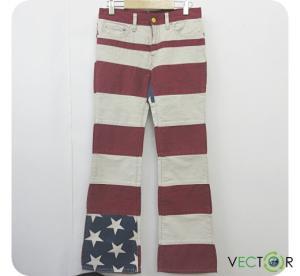ヒステリックグラマー HYSTERIC GLAMOUR KINKY キンキー 星条旗デザイン ロング ブーツカット パンツM メンズの買取実績