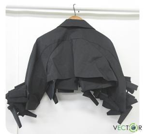 コムデギャルソン COMME des GARCONS 16SS Embellished Cropped Crepe Jacket クロップド クレープ ジャケット黒ブラックS レディースの買取実績