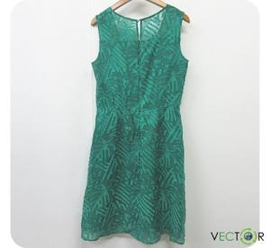 アナイ ANAYI ポリ シフォン 刺繍デザイン ノースリーブ チュニック ワンピース緑グリーン38 レディースの買取実績