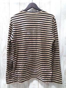 コムデギャルソンブラック COMME des GARCONS BLACK Tシャツ カットソー ボーダー 長袖 AD2008 ベージュ 黒 Sの買取実績