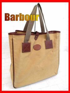 【Barbour/バブアー】 名品◆ロゴ刻印 キャンバス トートバッグ/ショルダーバッグ/ベージュ×ブラウン/カバン鞄かばんK-1780