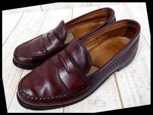 オールデン ALDEN ローファー カーフ 6.5 C 茶色 ブラウン コインローファー くつ 靴 シューズ 永久 定番 小さいサイズ