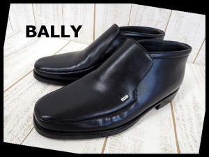 未使用品 バリー BALLY ビジネスシューズ スリッポン 本革 レザー ミドルカット 革靴 US 8.5 黒 ブラック くつ 靴 シューズ 美品