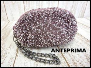 アンテプリマ ANTEPRIMA ワイヤー バッグ ポーチ チェーン ピンク シルバー かばん 鞄 カバン 保存袋付