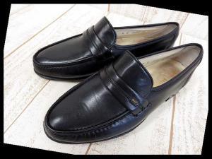 バリー BALLY ビジネスシューズ 革靴 ローファー スリッポン 6 黒 ブラック くつ 靴 シューズ 小さいサイズ