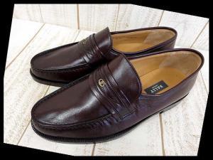 バリー BALLY ビジネスシューズ 革靴 ローファー スリッポン 8 茶色 ブラウン くつ 靴 シューズ 美品