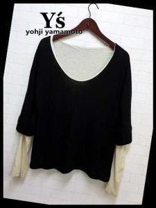 ワイズ Y's ヨウジヤマモト ニットセーター 変形 レイヤード カットソー 長袖 3 黒 ブラック ベージュ キャメル ウールの買取実績