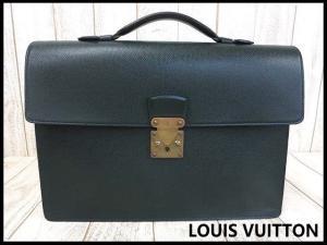ルイヴィトン LOUIS VUITTON バッグ タイガ ブリーフケース ビジネスバッグ セルヴィエット クラド M30074 レザー 本革 緑 エピセア 書類かばん 鞄 カバン メンズ