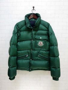 モンクレール MONCLER ダウンジャケット ダウンコート ビッグロゴ XL 緑 グリーン アウター メンズ