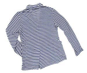 【BARENA/バレナ】 イタリア ヴェネチア ブランド ボーダー 長袖カーディガン ニット テーラードジャケット スペアボタン有り リネン 青 白 44の買取実績