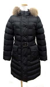 モンクレール MONCLER ダウンコート ジャケット ナイロン MERIN ファーフード 黒 00 国内正規品 レディース