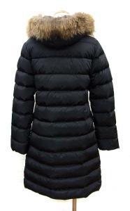 モンクレール MONCLER ダウンコート ジャケット ナイロン MERIN ファーフード 黒 00 国内正規品 レディースの買取実績